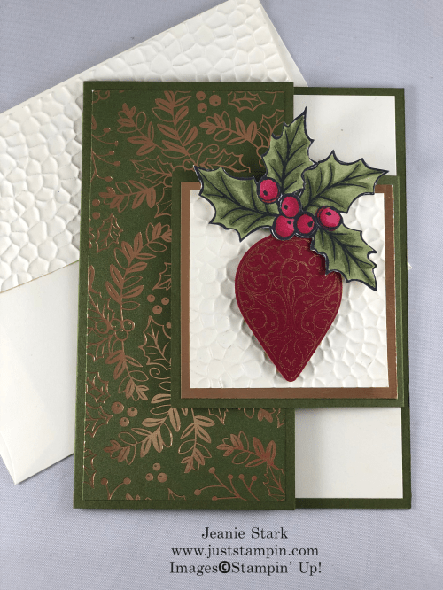 Stampin' Up! Christmas Gleaming fun fold Christmas card idea - Jeanie Stark StampinUp