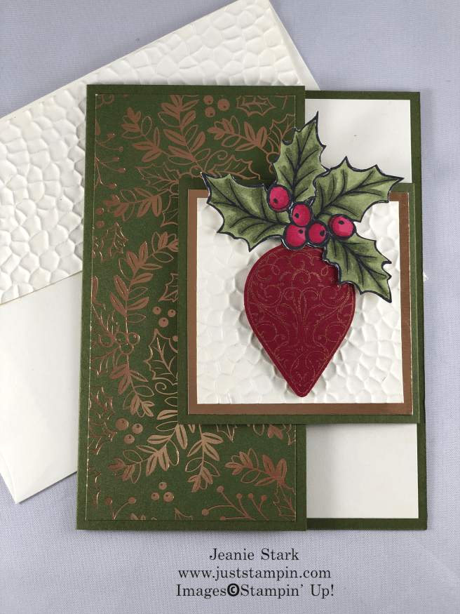 Stampin\' Up! Christmas Gleaming fun fold Christmas card idea - Jeanie Stark StampinUp