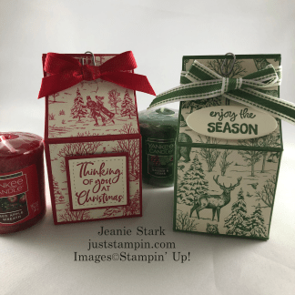 Stampin' Up! Toile Tidings Yankee Candle gift box idea - Jeanie Stark StampinUp