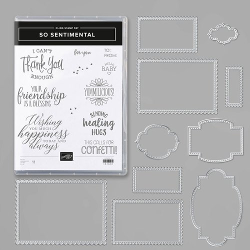 Stampin' Up! So Sentimental Bundle is perfect for all occasion cards - for inspiration, tutorials, and ordering visit www.juststampin.com - Jeanie Stark StampinUp
