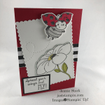 Stampin\' Up! Little Ladybug note card featuring the Ladybug dies - Jeanie Stark StampinUp
