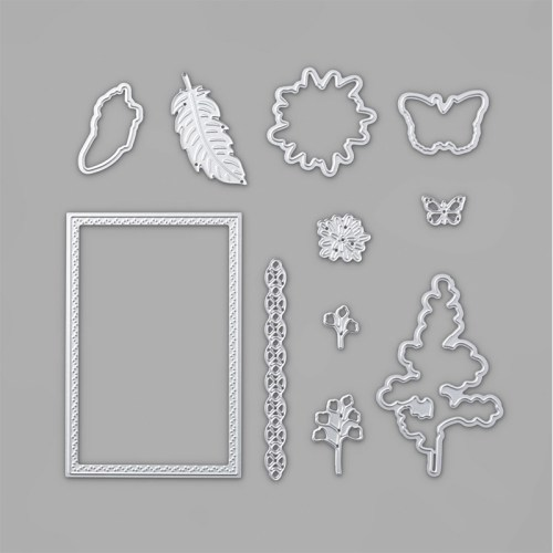 Stampin Up Natures Thoughts Dies to coordinate with the Positive Thoughts Stamp Set - for inspiration and ordering information visit juststampin.com - Jeanie Stark StampinUp