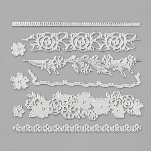 Stampin Up Ornate Border Dies -for inspiration and ordering information visit juststampin.com - Jeanie Stark StampinUp