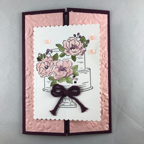 Stampin Up Happy Birthday To You gate fold card idea - Jeanie Stark StampinUp