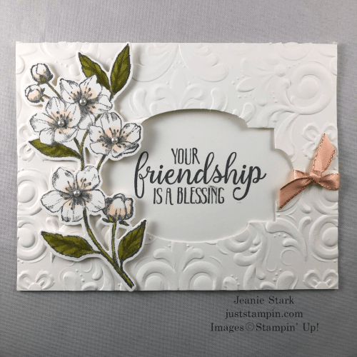 Stampin Up Forever Blossoms and So Sentimental friend card idea - Jeanie Stark StampinUp