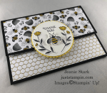 Stampin\\\' Up! Honey Bee fun fold Thank You card idea - Jeanie Stark StampinUp