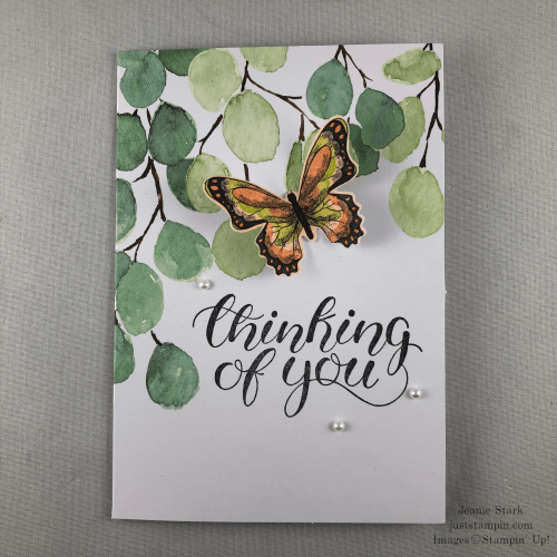 Stampinn' Up! Notes of Kindness kit alternative idea for thinking of you card - Jeanie Stark StampinUp