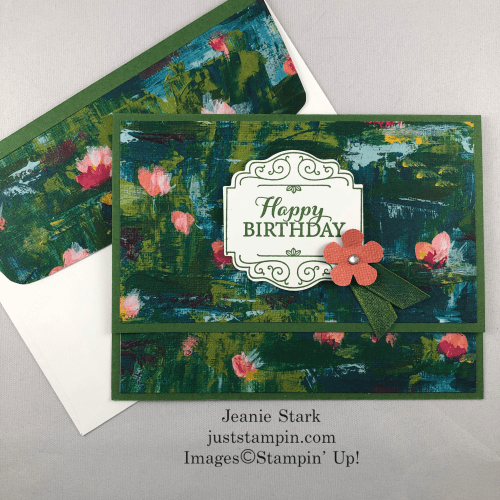Stampin Up Lily Impressions fun fold Happy Birthday card idea - Jeanie Stark StampinUp