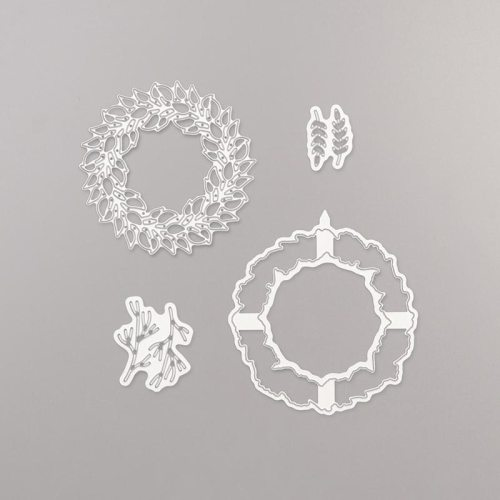 Stampin' Up! All Around Wreath Dies -for inspiration and ordering information visit juststampin.com - Jeanie Stark StampinUp