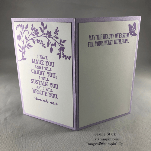 Stampin' Up! Hold On To Hope fun fold Easter card idea - Jeanie Stark StampinUp