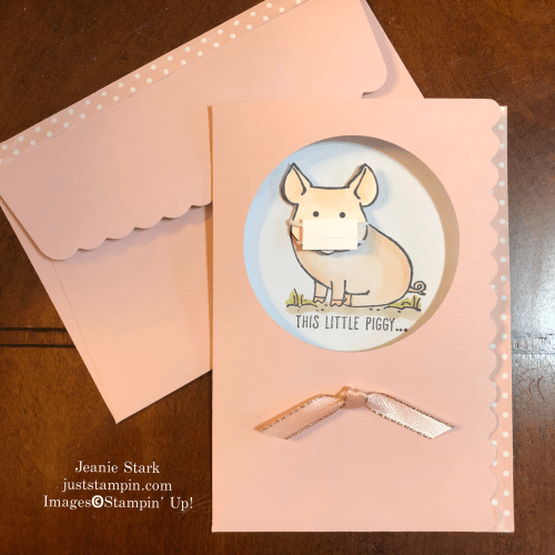 Stampin Up! This Little Piggy Thank You Card idea for Coronavirus Pandemic - Jeanie Stark StampinUp