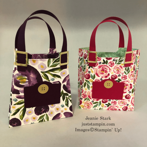 Stampin' Up! All Dressed Up purses for Mother's Day, birthday, wedding shower gifts - Jeanie Stark StampinUp