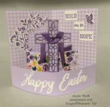 Stampin'Up! Word Wishes and Cross of Hope Dies Easter card idea - Jeanie Stark StampinUp