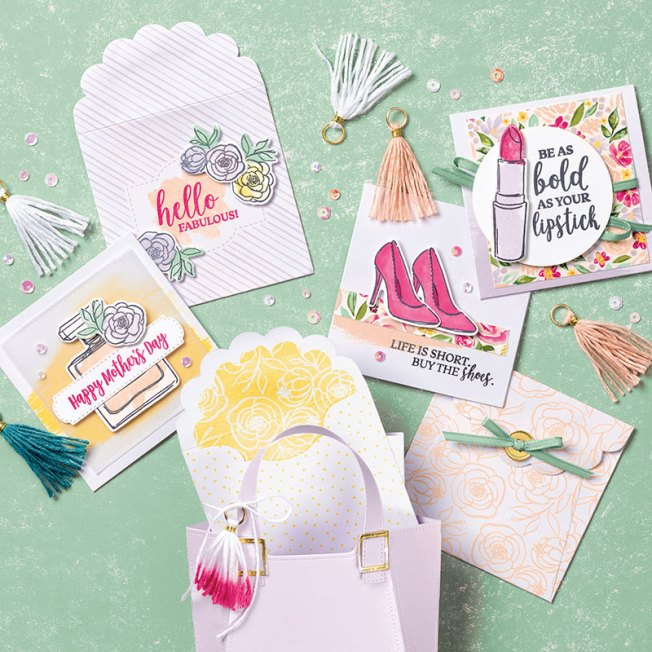 Best Dressed 3 x 3 note cards & envelopes sample ideas