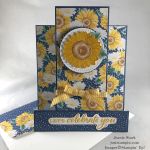 Stampin\' Up! Celebrate Sunflowers with Flowers for Every Season fun fold celebration card idea - Jeanie Stark StampinUp