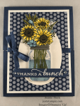 Stampin\' Up! Jar of Flowers and Celebrate Sunflowers Fun Fold Thank You card idea - Jeanie Stark StampinUp