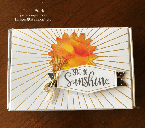 Stampin' Up! June 2020 Paper Pumpkin Box of Sunshine idea - Jeanie Stark StampinUp