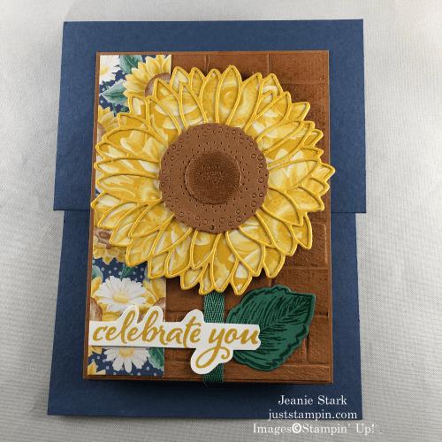 Stampin' Up! Celebrate Sunflowers fun fold all occasion card idea - Jeanie Stark StampinUp