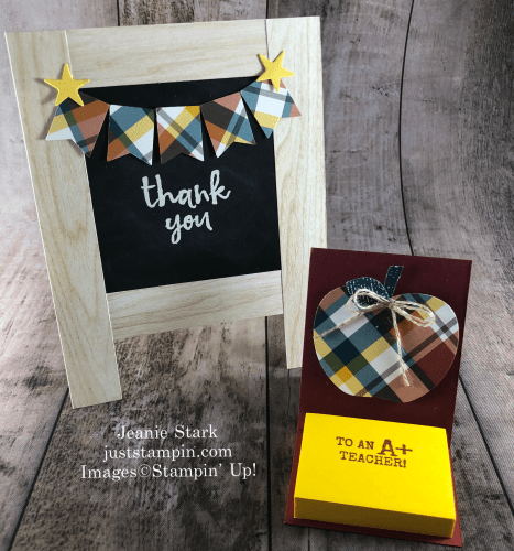 Stampin' Up! Massive Thanks chalkboard easel teacher thank you card idea- Jeanie Stark StampinUp