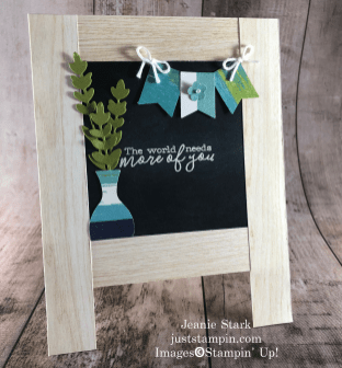 Stampin' Up! Free As A Bird, Ornate Thanks, and Good Morning Magnolia stamp sets were used to create this teacher appreciation card idea - Jeanie Stark StampinUp