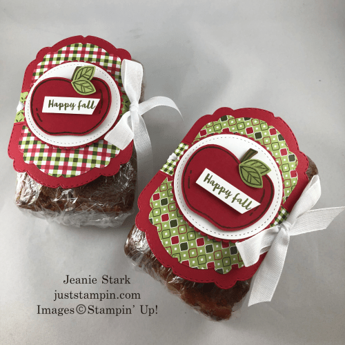 Stampin' Up! Celebrations Labels and Harvest Hellos tag idea - Jeanie Stark StampinUp