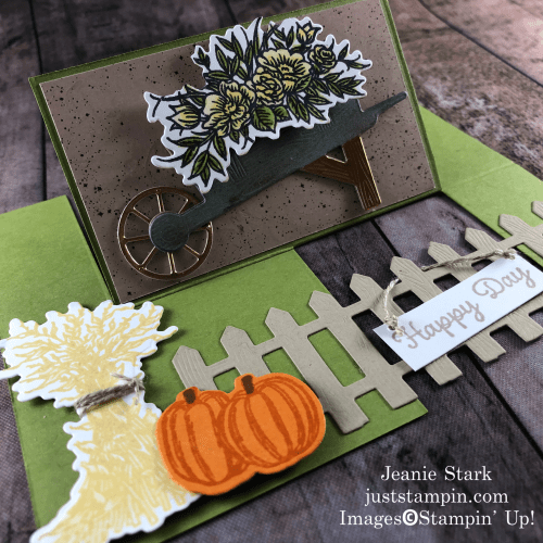 Stampin' Up! Autumn Goodness Fun fold fall birthday card idea - Jeanie Stark StampinUp