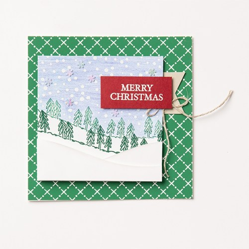 Stampin' Up! Curvy Christmas card idea - for more inspiration and ordering information visit juststampin.com - Jeanie Stark StampinUp