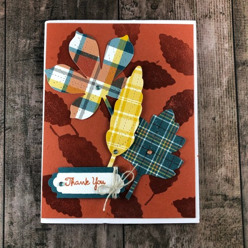 Stampin' Up! Love of Leaves Thank you card idea - Jeanie Stark StampinUp
