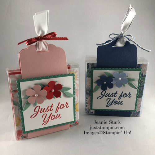 Stampin' Up! Flowers For Every Season Acetate Gift Box - Jeanie Stark StampinUp