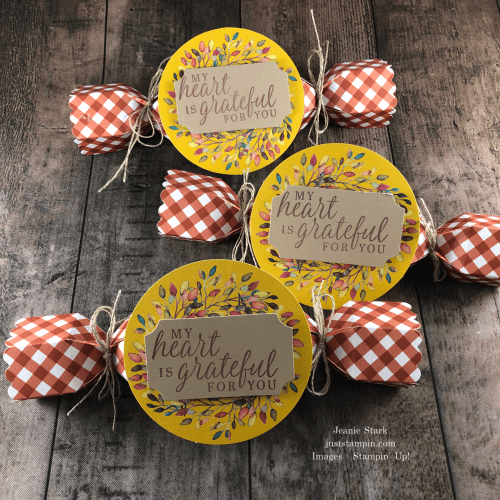 Stampin'' Up! Paper Pumpkin Thanksgiving table favors using Beautiful Autumn stamp set - Jeanie Stark StampinUp