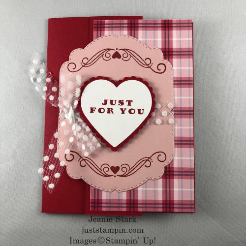 Stampin' Up! Celebrating Tidings Valentine card idea - Jeanie Stark StampinUp