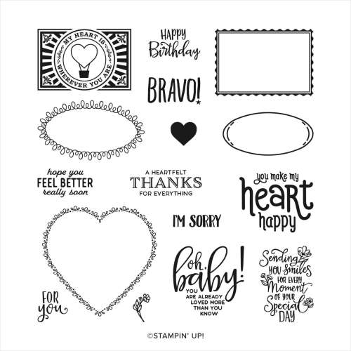 Stampin' Up! Punch Party Host StampSet- visit juststampin.com t find out how you can qualify to get this stamp set for FREE - Jeanie Stark StampinUp
