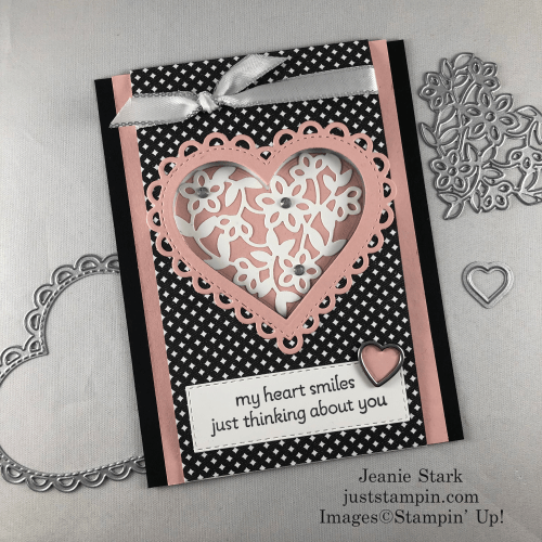 Stampin' Up! Lots of Heart and True Love Designer Series Paper fun fold card idea for any occasion - Jeanie Stark StampinUp