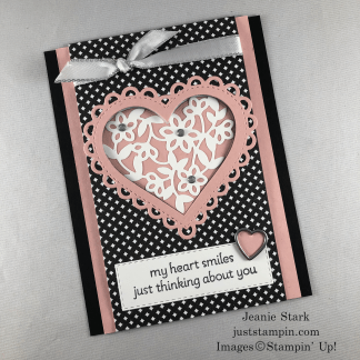 Stampin' Up! Lots of Heart fun fold card idea - Jeanie Stark StampinUp