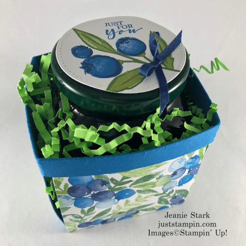 Stampin' Up! Berry Blessings blueberry berry basket with Berry Delightful Designer Series Paper - Jeanie Stark StampinUp