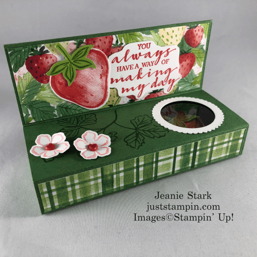Stampin' Up! Sweet Strawberry and Berry Delightful handmade treat boxes - Jeanie Stark StampinUp