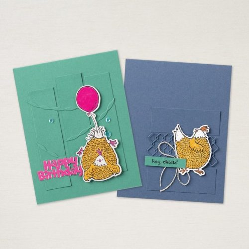 Stampin' Up! Hey Chick and Hey Birthday Chick birthday card ideas - Jeanie Stark StampinUp