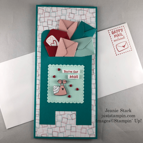 Stampin' Up! Snailed It slimline card idea - Jeanie Stark StampinUp