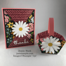 Stampin' Up! Flower & Field card and coordinated basket gift set idea for Easter, Mother's Day, birthday, hostess- Jeanie Stark StampinUp