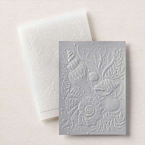 Stampin' Up! Seashells 3D Embossing Folder - visit juststampin.com for inspiration, ordering information, and more - Jeanie Stark StampinUp