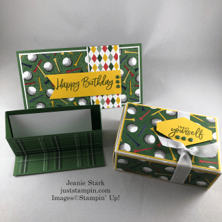 Stampin' Up! Country Club masculine birthday gift set ideas - Jeanie Stark StampinUp