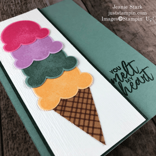 Stampin' Up! 2021-2023 In Colors note card idea with Sweet Ice Cream Bundle - Jeanie Stark StampinUp
