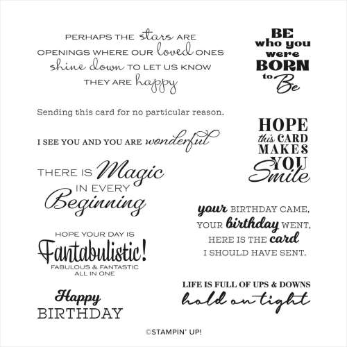Stampin' Up! In Your Words Host Stamp Set - Jeanie Stark StampinUp