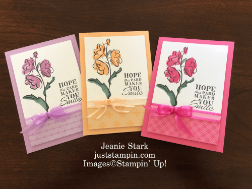 Stampin' Up! In Your Words with Color & Contour In Color Card ideas - Jeanie Stark StampinUp