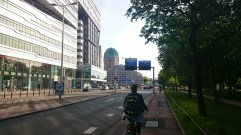 Heading towards Den Haag Centraal after exiting Haagse Bos