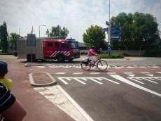 Riding along Straatweg