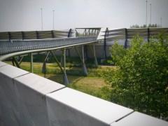 Cycle bridge over A2 motorway