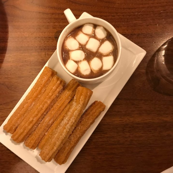 Conrad NYC - Atrio Restaurant - Churros and Spicy Hot Chocolate
