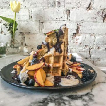 LOV Restaurant - McGill - Montreal - Waffles with Chia Gel