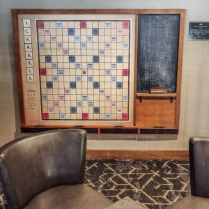 Hotel Malcolm Canmore Alberta - Canadian Rockies - Giant Scrabble